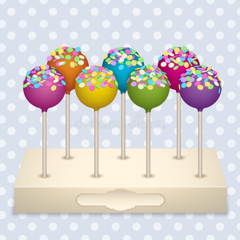 cake pops set stock vector image 47199033. Black Bedroom Furniture Sets. Home Design Ideas