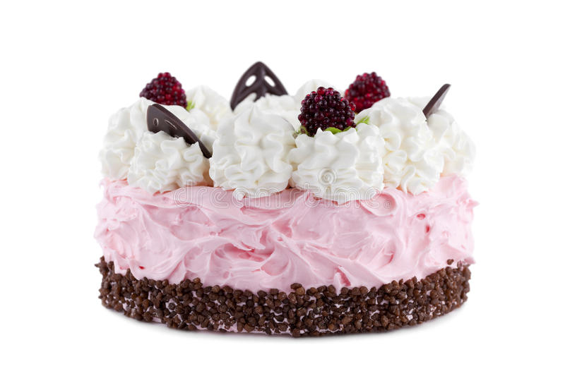 Download Cake with raspberries stock image. Image of decorated - 29951283