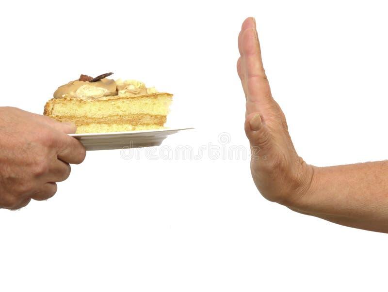 Cake refusal royalty free stock images