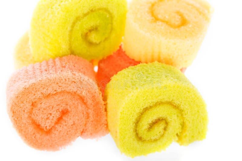 Cake rolls stock photo