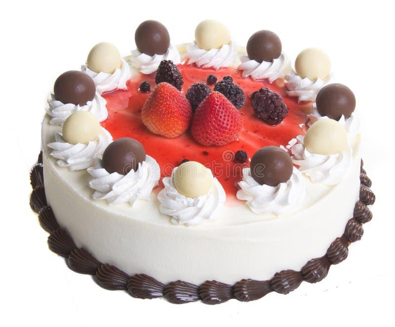 Cake roomijscake op achtergrond royalty-vrije stock foto's