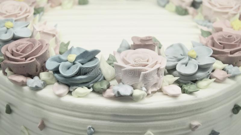 Cake with rosettes royalty free stock photo