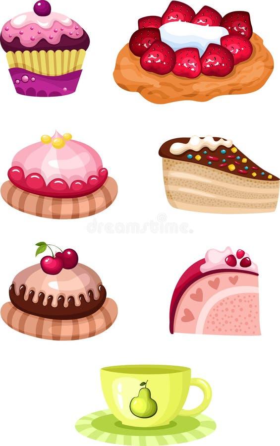 Download Cake set stock vector. Illustration of pink, handmade - 24404761