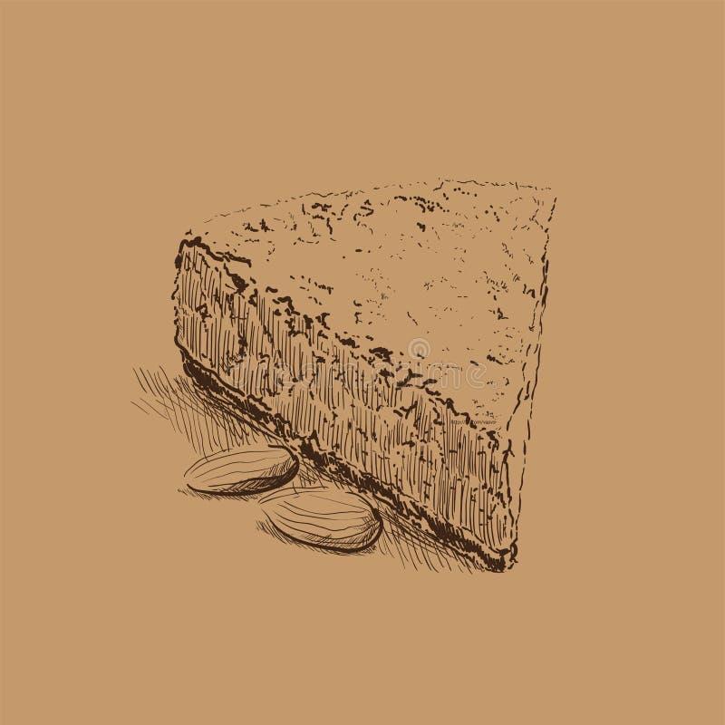 Download Cake sketch stock vector. Image of decorated, orange - 33829582