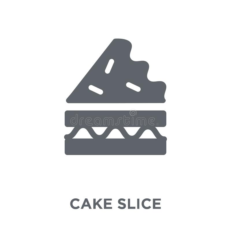 Cake slice icon from Birthday and Party collection. stock illustration