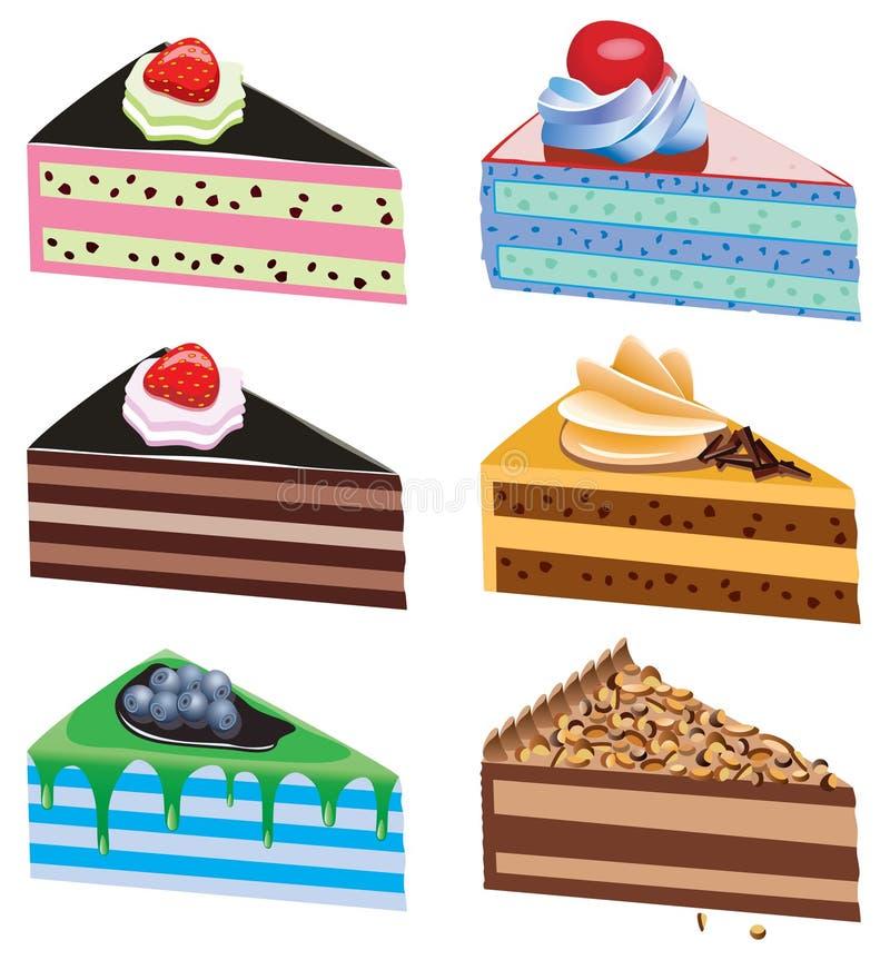 Cake Slices Stock Photos