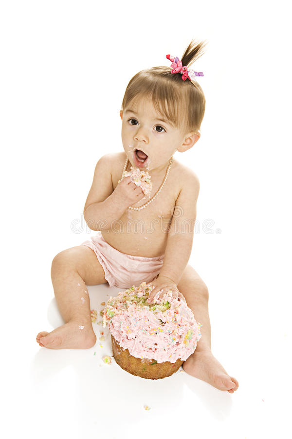 Cake Smash! royalty free stock images