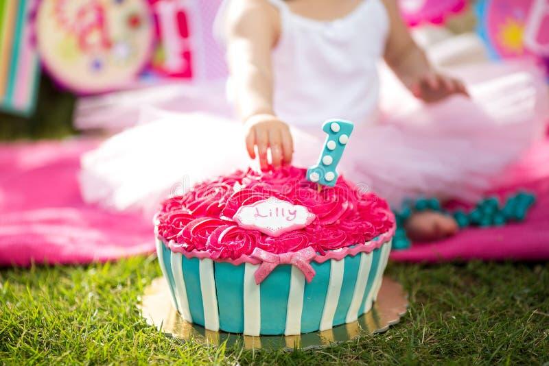 Cake smash stock photography