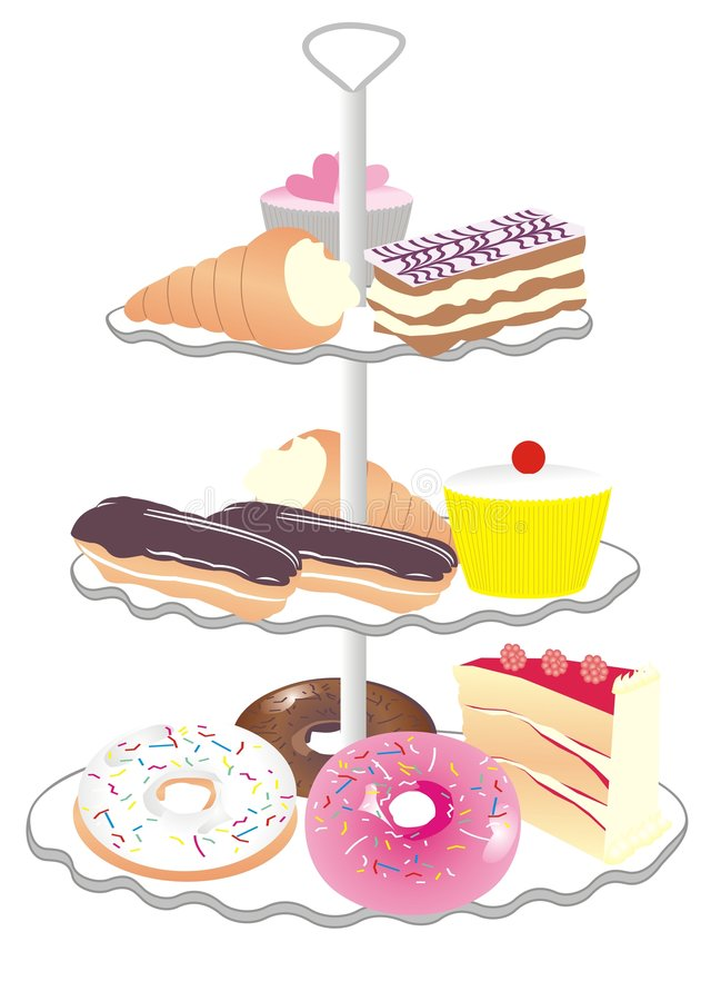 Cake stand royalty free stock images