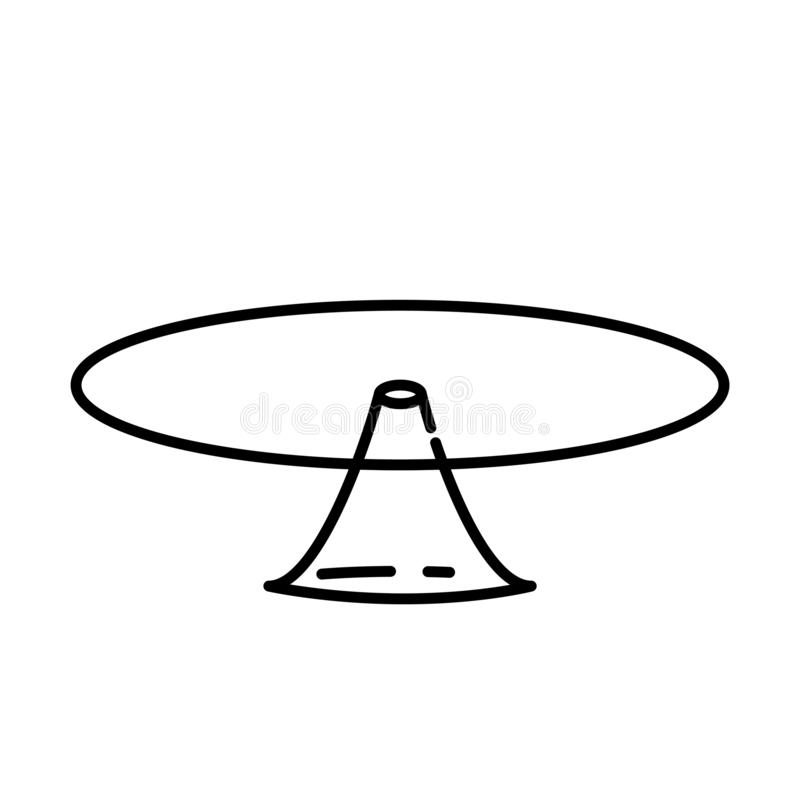 Cake stand icon, vector illustration stock illustration