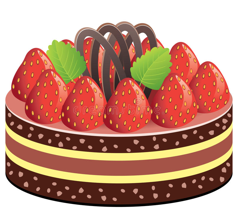 Download Cake with strawberry stock vector. Illustration of cake - 16423802