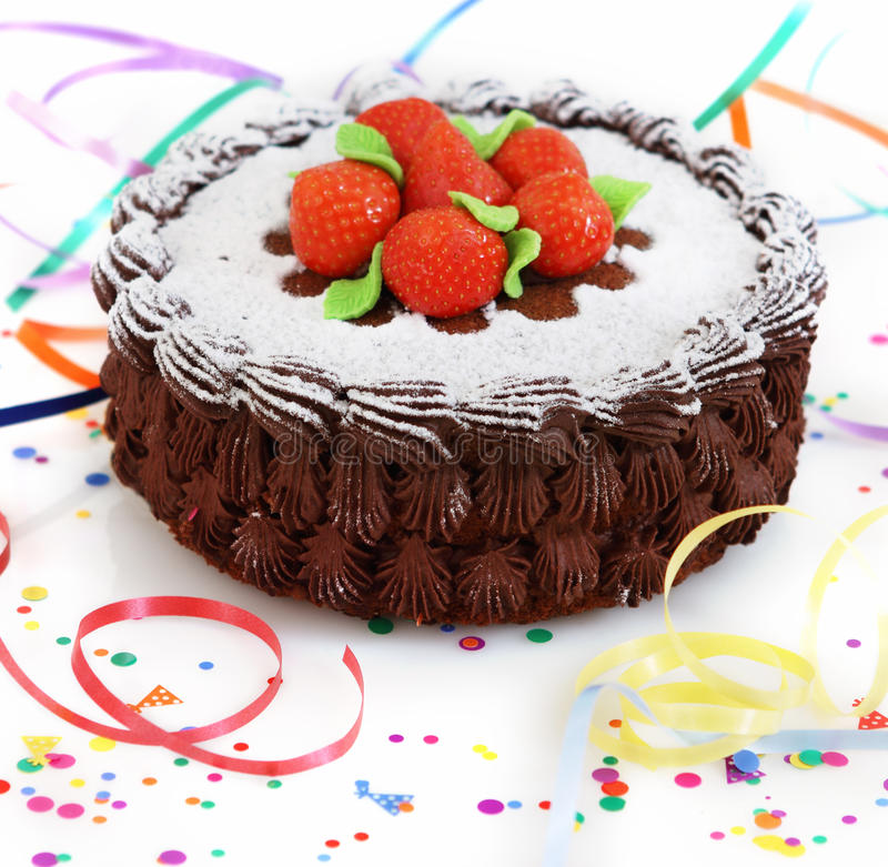 Download Cake with strawberry stock image. Image of delicious - 22510109