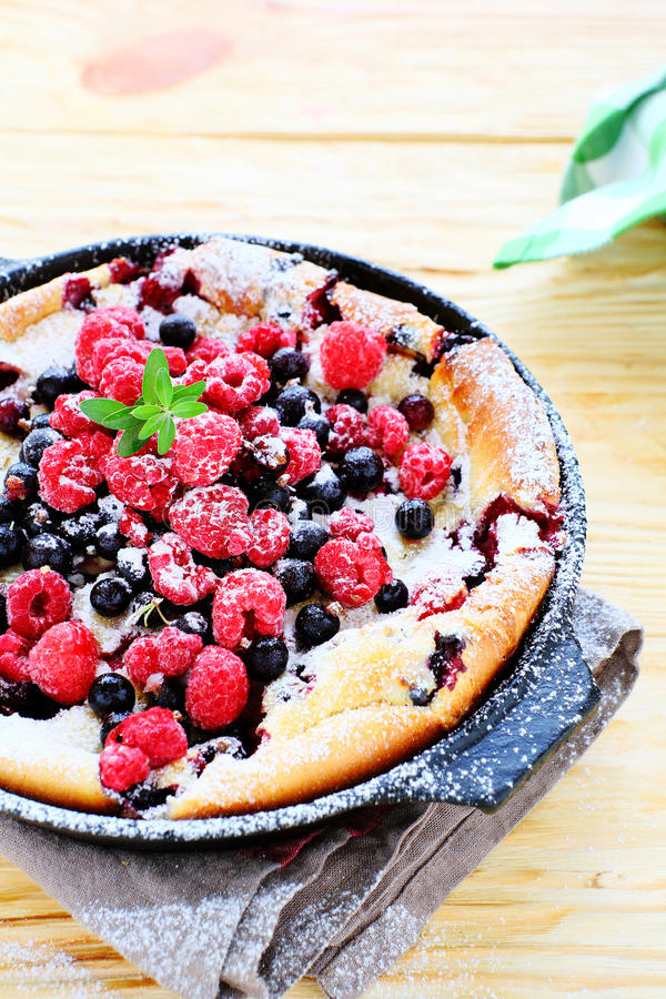Cake with summer berries stock photography