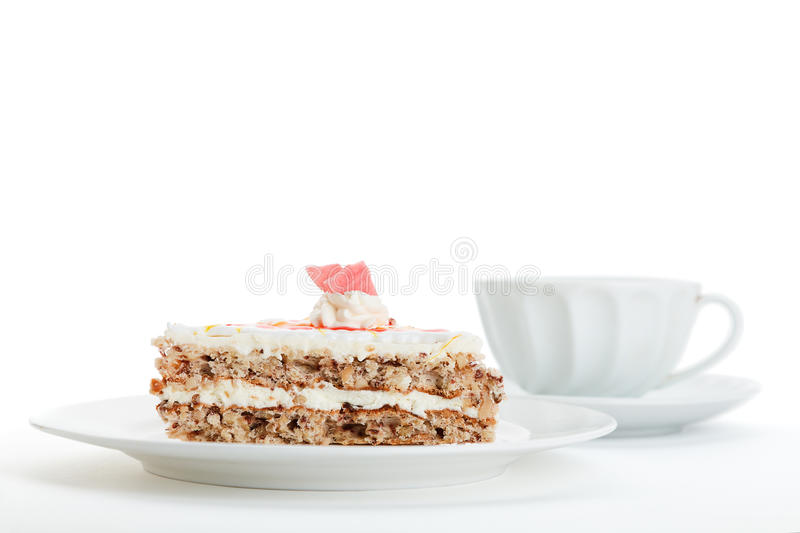 Download Cake and tea stock photo. Image of slices, cream, breakfast - 24100578
