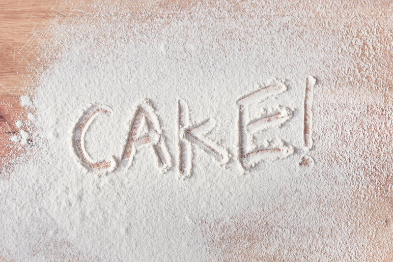 Cake text royalty free stock photography