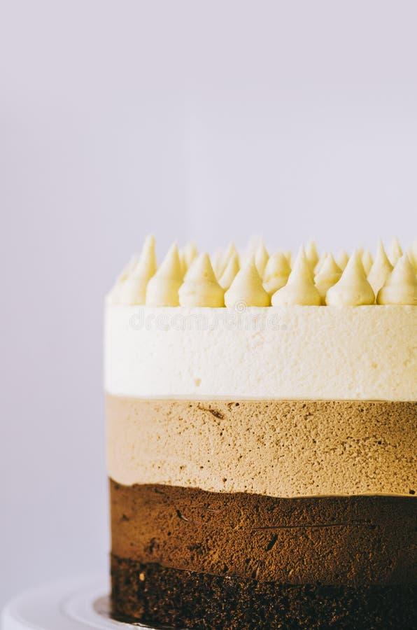 Cake Three Chocolate stock afbeeldingen