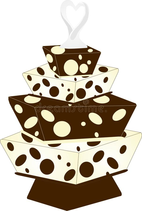 Download Cake With Topper And Cubes With Dots Royalty Free Stock Image - Image: 18495666