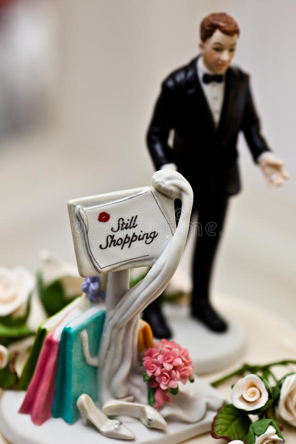 Cake topper - witty wedding royalty free stock photo