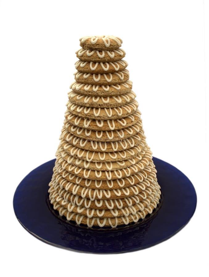 cake tower arkivfoton