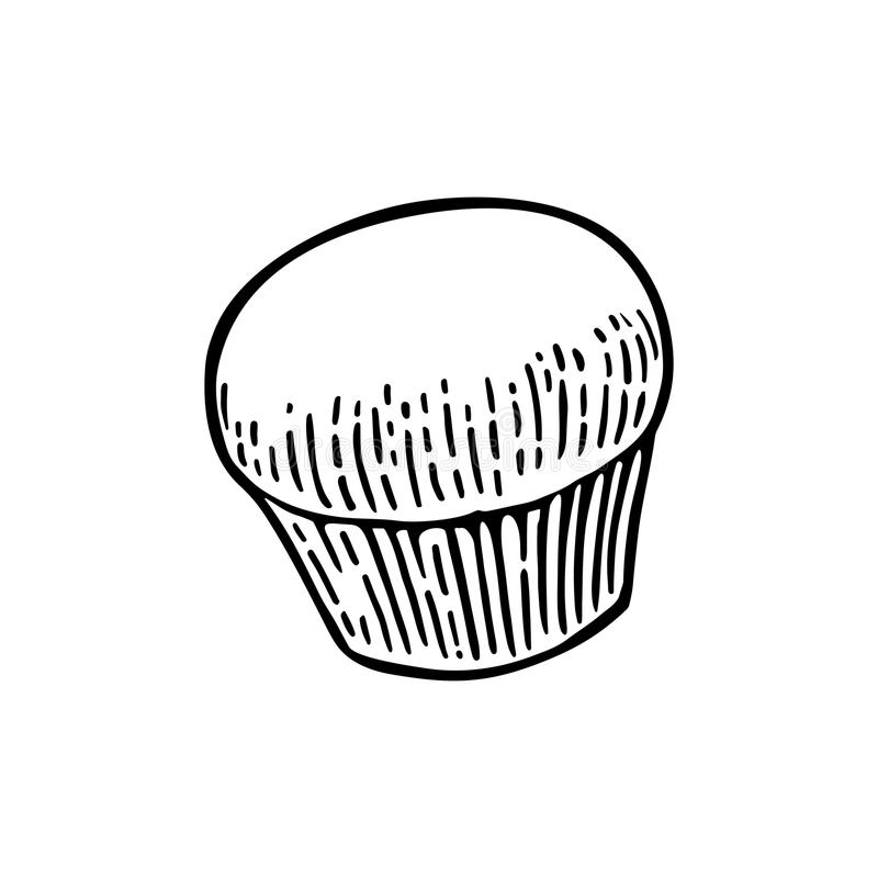 Cake. Vector black hand drawn vintage engraving. Illustration for poster, label and menu bakery shop. Isolated on the white background vector illustration