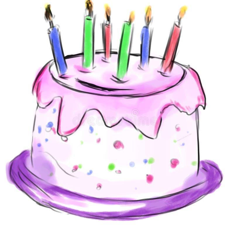 Cake voor verjaardag vector illustratie