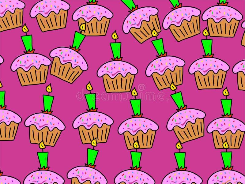 Cake wallpaper royalty free illustration