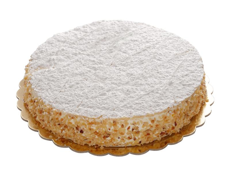 Cake whole sweet puff pastry isolated royalty free stock image
