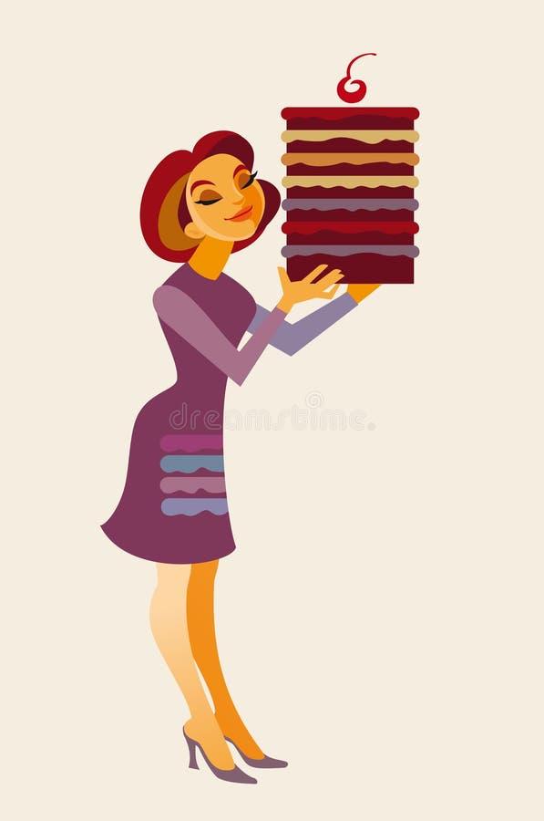 Download Cake stock vector. Illustration of dessert, housewife - 32625019