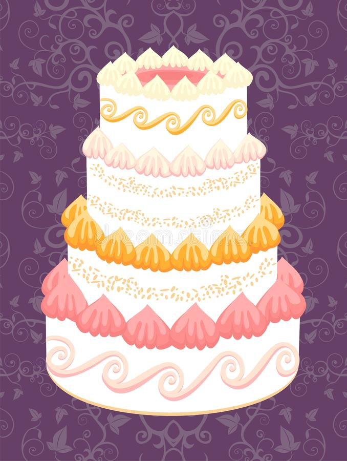 cakebröllop vektor illustrationer