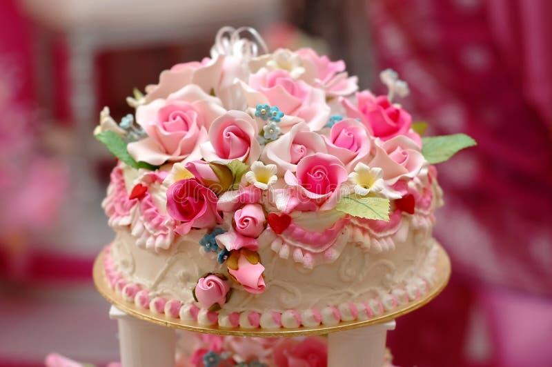 cakebröllop arkivbild