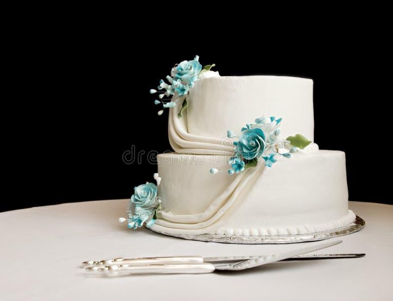 cakebröllopwhite royaltyfri foto