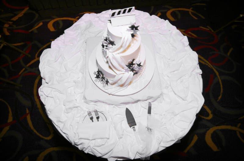 cakebröllopwhite arkivbilder