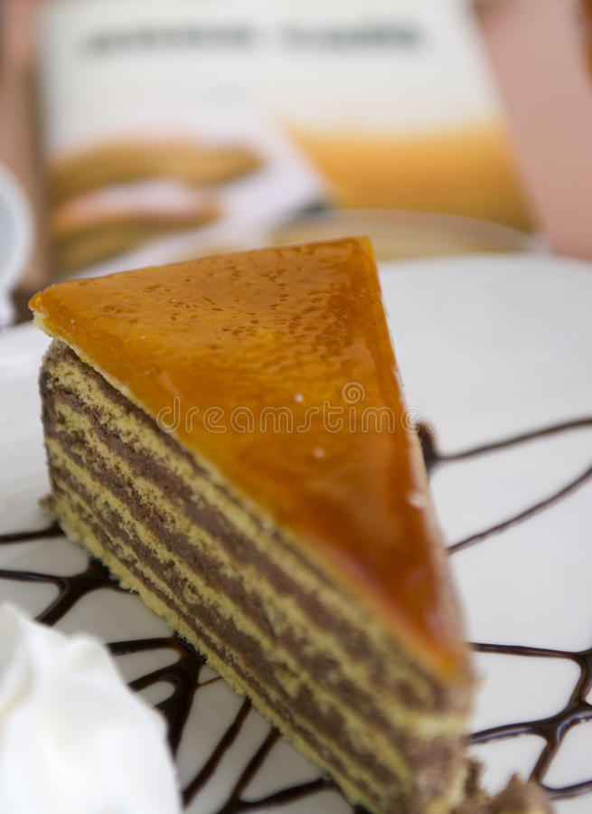 cakecaramel royaltyfri fotografi