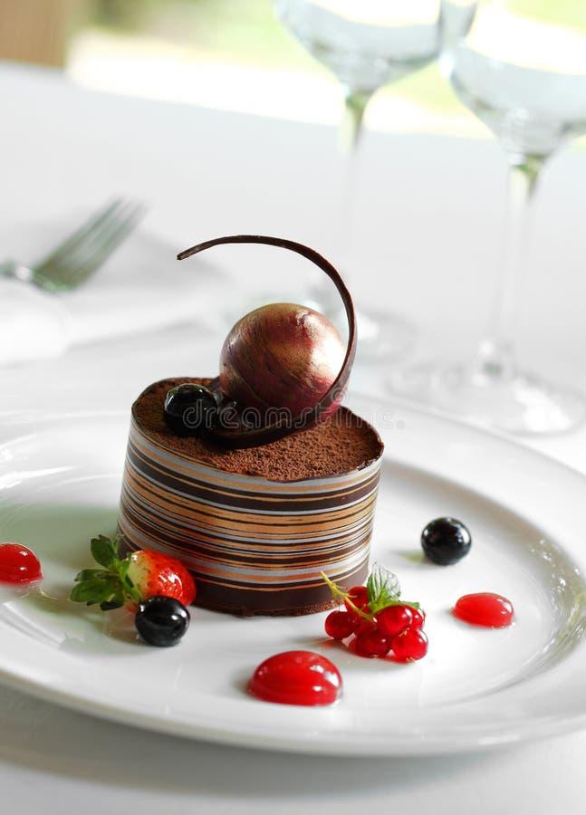 cakechoklad fotografering för bildbyråer