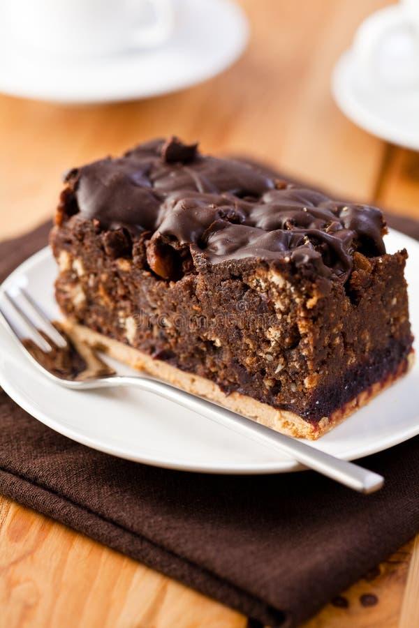 cakechokladdark arkivfoto