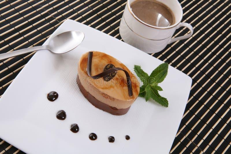 Cakechokladefterrätt Royaltyfri Bild