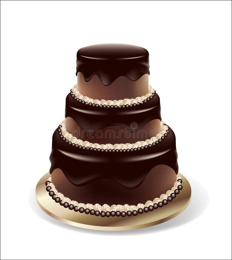 cakechokladvektor royaltyfri illustrationer