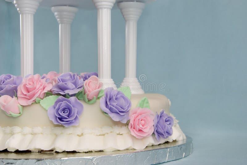 cakefondantbröllop royaltyfri fotografi