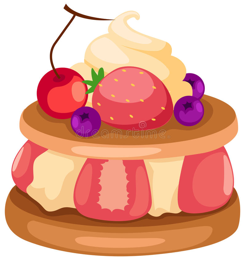 cakefrukt royaltyfri illustrationer