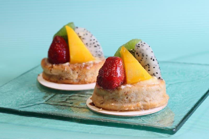 cakefrukt royaltyfri bild