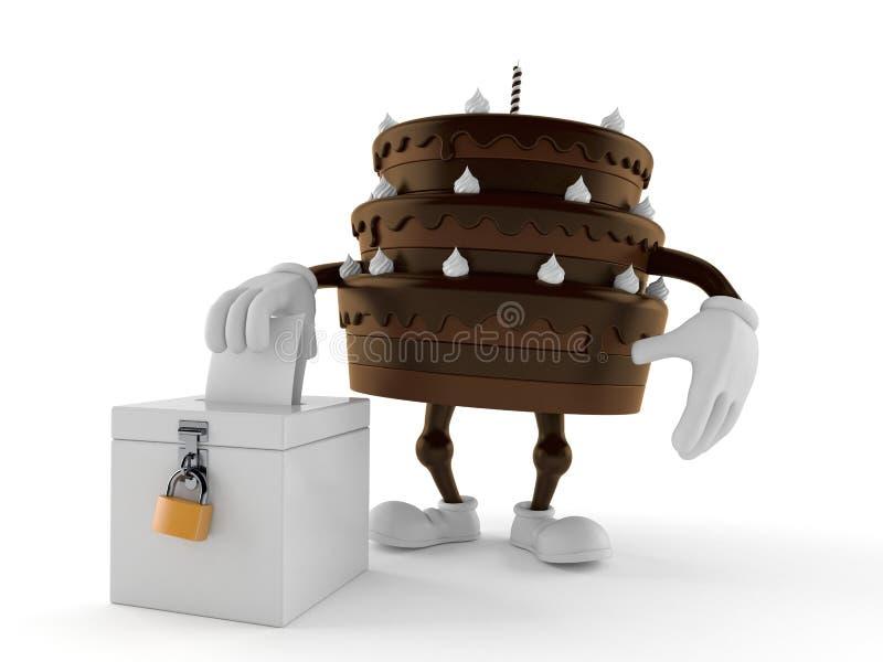 Cakekarakter met stemstemming stock illustratie