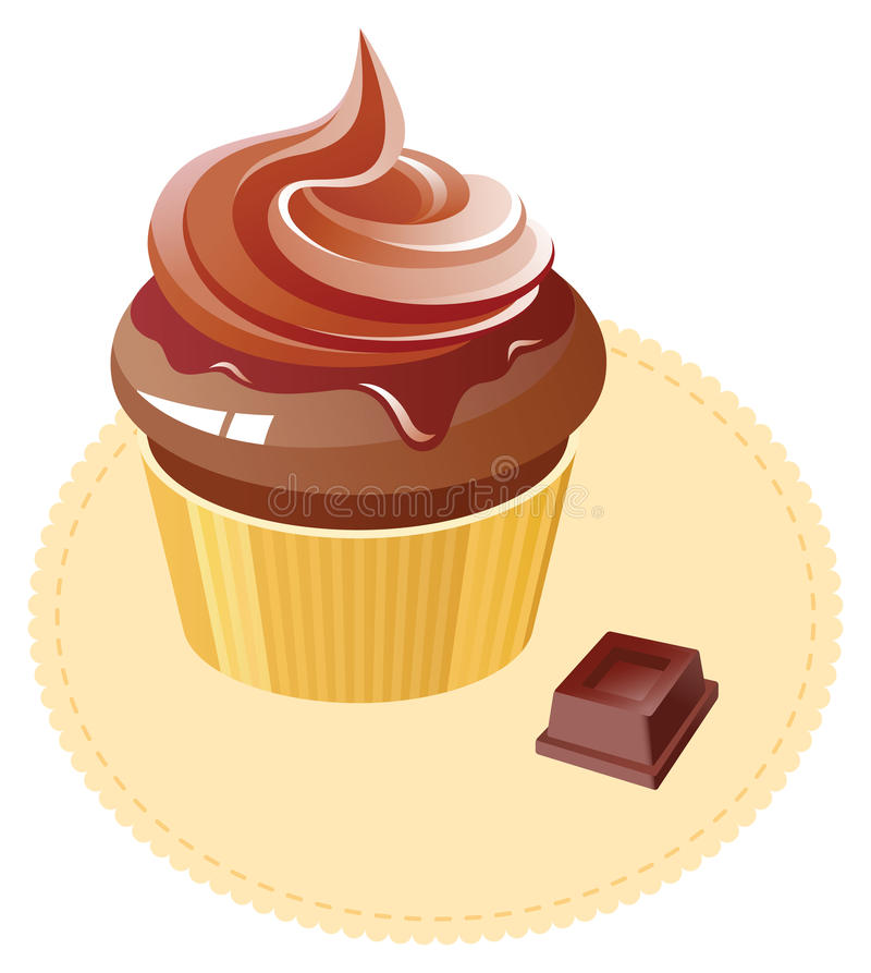 cakelockchoklad stock illustrationer