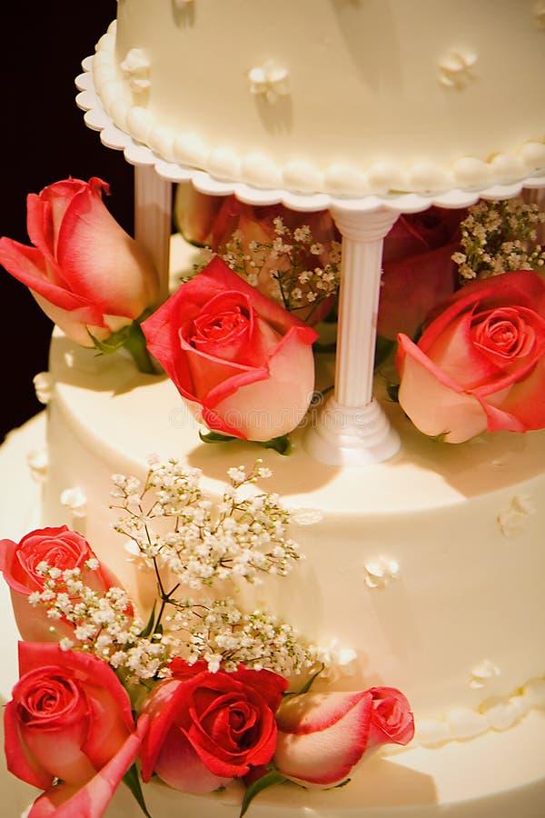 caken details bröllop arkivbild
