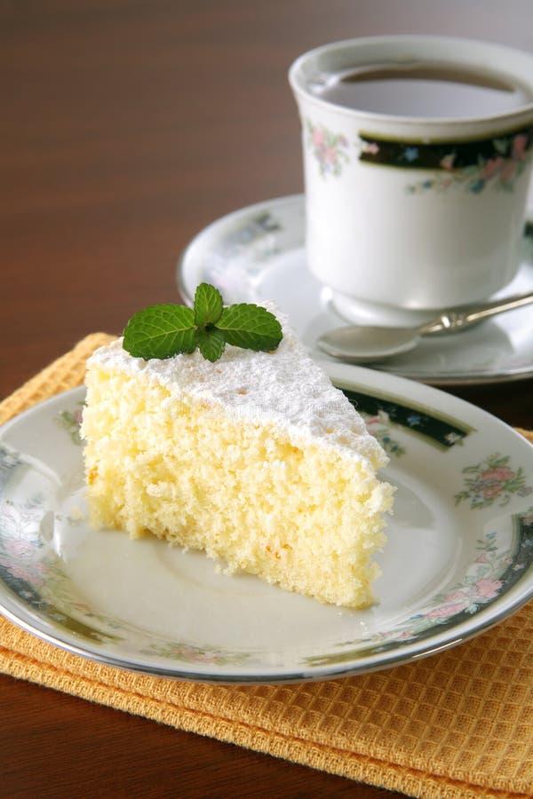 cakeorangetea fotografering för bildbyråer