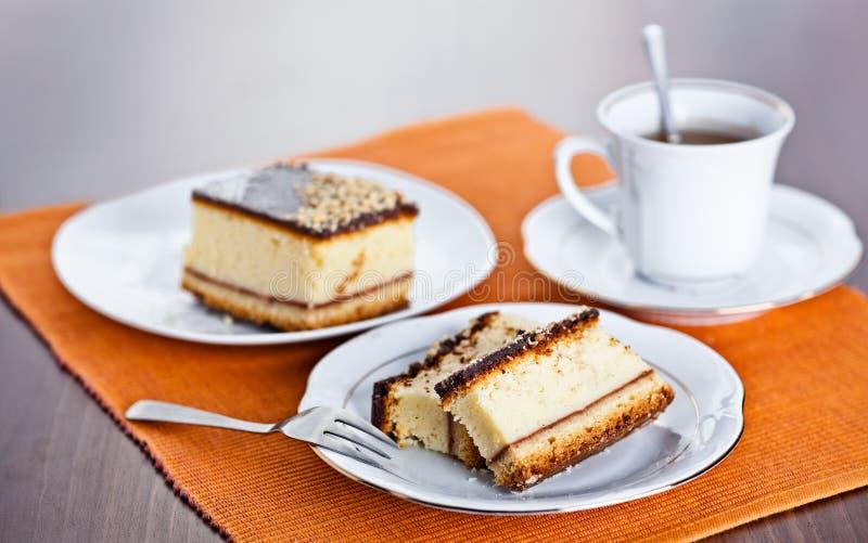 Download Cakeostkaffe arkivfoto. Bild av gaffel, ostkaka, platta - 19790026