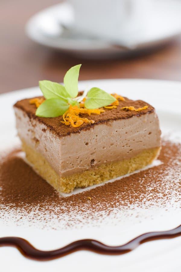 cakeostmocca arkivbild