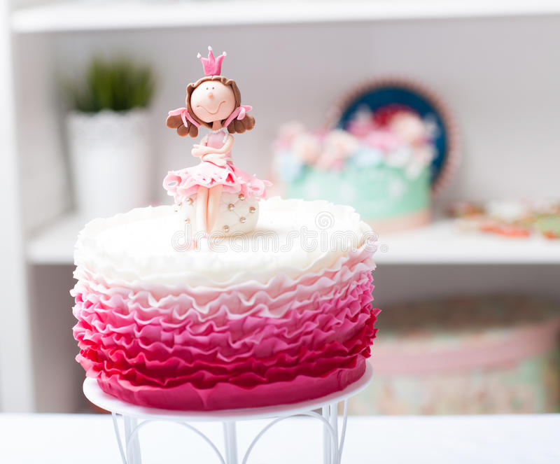 Cakeprinses royalty-vrije stock afbeeldingen