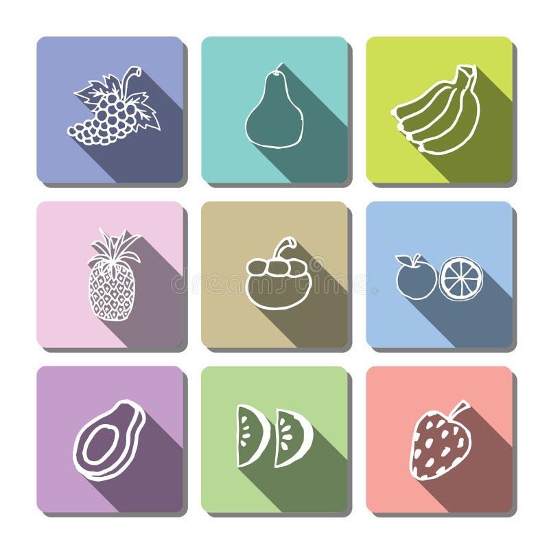Cakereeks moderne eenvoudige pictogrammen royalty-vrije stock fotografie