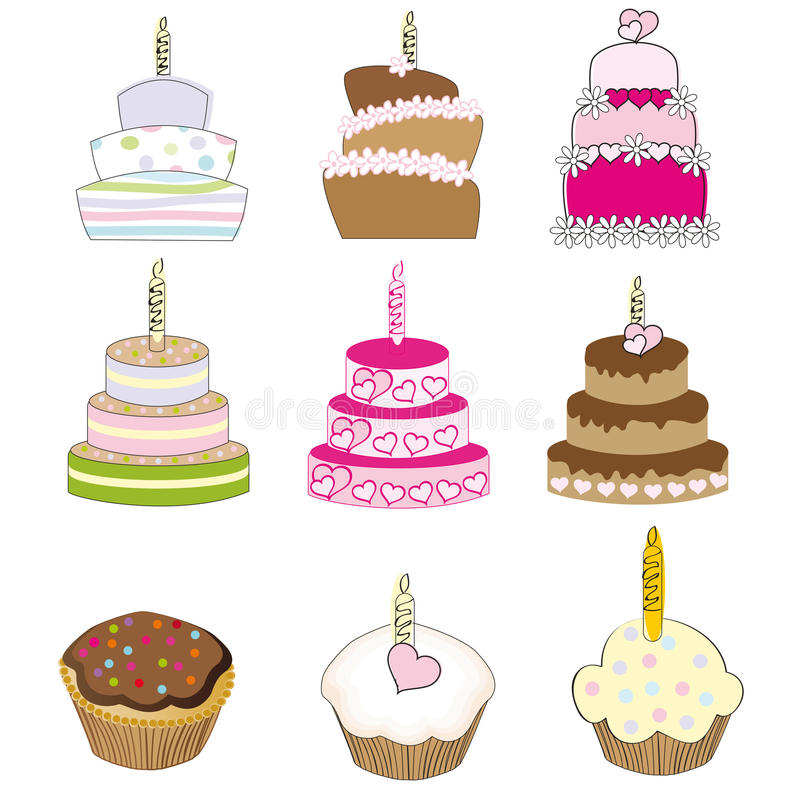Download Cakes stock vector. Illustration of dots, sweet, vector - 20782756