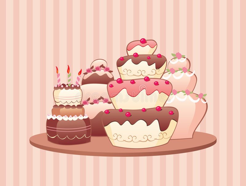 Cakes stock illustratie